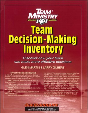 9781570523588: Team Decision-Making Inventory (Pack Of 100)