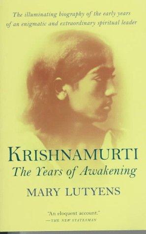 9781570622885: Krishnamurti: The Years of Awakening
