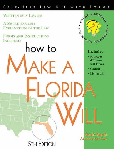 9781570713613: How to Make a Florida Will: With Forms (Self-Help Law Kit With Forms)