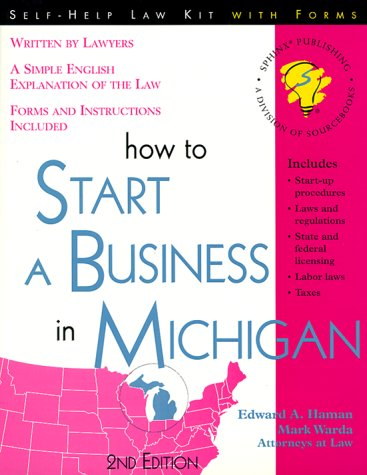 9781570714078: How to Start a Business in Michigan: With Forms