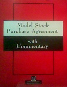 9781570731051: Model Stock Purchase Agreement With Commentary