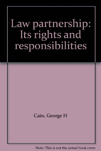 9781570732454: Law partnership: Its rights and responsibilities