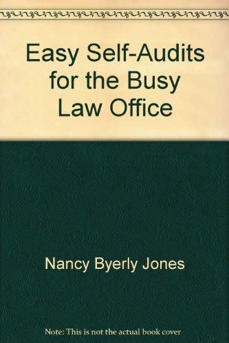 9781570736216: Easy Self-Audits for the Busy Law Office