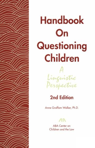 9781570737145: Handbook On Questioning Children : A linguistic Perspective