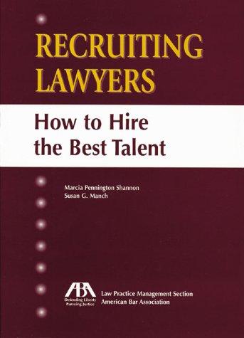 9781570737725: Recruiting Lawyers