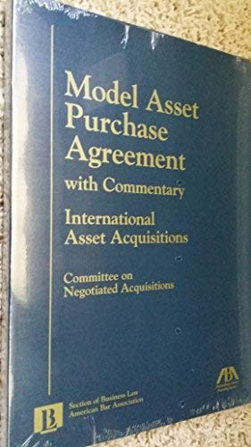 9781570738753 Model Asset Purchase Agreement With Commentary