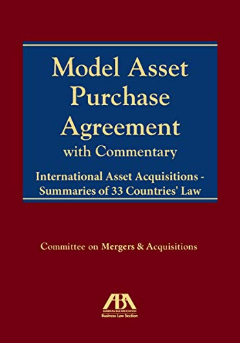 9781570739231: Model Asset Purchase Agreement: With Commentary