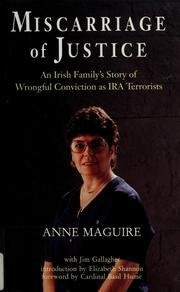9781570980060: Miscarriage of Justice: An Irish Family's Story of Wrongful Conviction