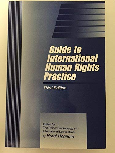 9781571050571: Guide to International Human Rights Practice