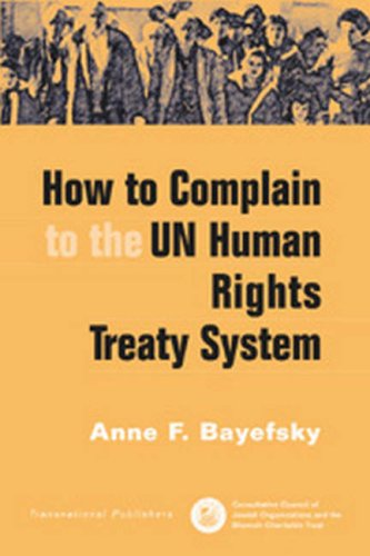 9781571052834: How to Complain to the UN Human Rights Treaty System