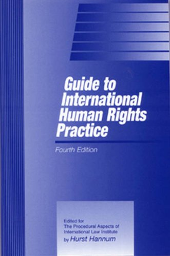 9781571053206: Guide To International Human Rights Practice