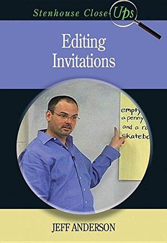 Editing Invitations: Jeff Anderson