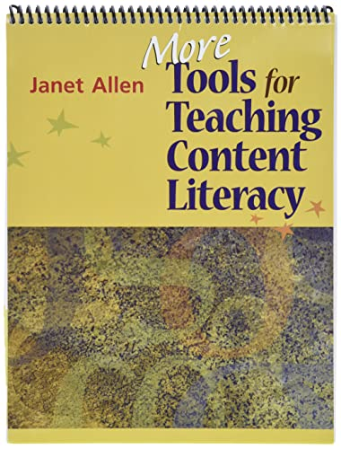 9781571107718: More Tools for Teaching Content Literacy