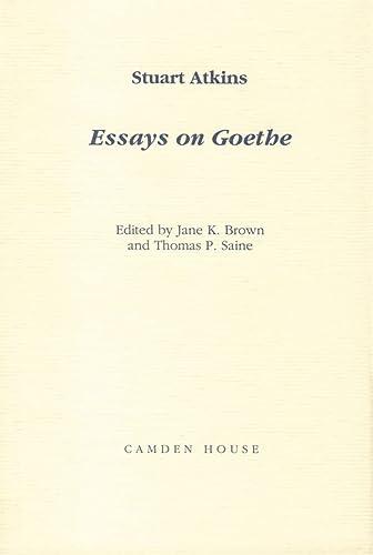 9781571130273: Essays on Goethe (Studies in German Literature Linguistics and Culture)