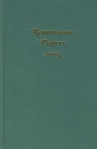 Renaissance Papers 2003: Cobb. C. & Hester, M. T. [ed]