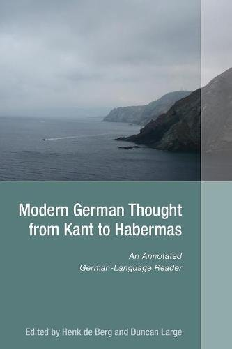 9781571133540: Modern German Thought from Kant to Habermas: An Annotated German-Language Reader (Studies in German Literature Linguistics and Culture)