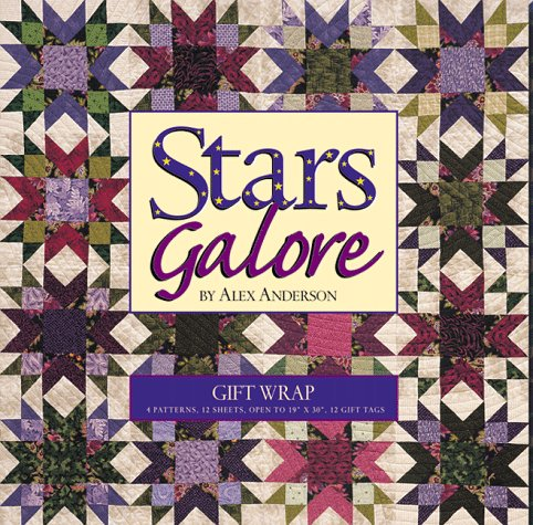 Stars Galore Gift Wrap with Other (1571200835) by C&T Publishing Inc; Anderson, Alex