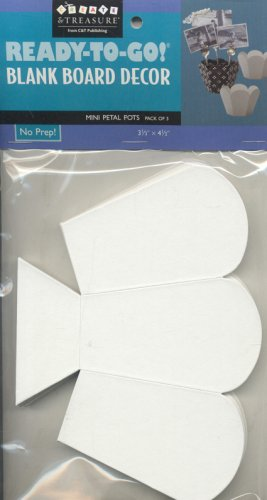 9781571205452: Ready-to-Go! Blank Board Decor Mini Petal Pots: 3 pack