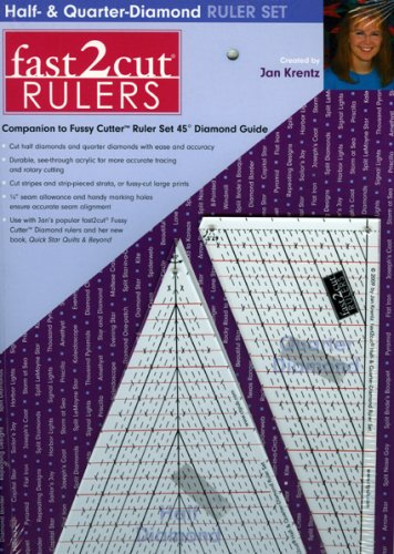 9781571207982: fast2cut Half & Quarter-Diamond Ruler Set: Companion to Fussy Cutter Ruler Set 45 Degree Diamond Guide