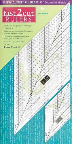 9781571208156: fast2cut Fussy Cutter Ruler Set: 45 -Diamond Guide