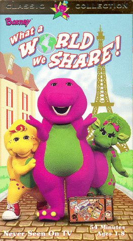 9781571323804: Barney: What a World We Share [VHS]