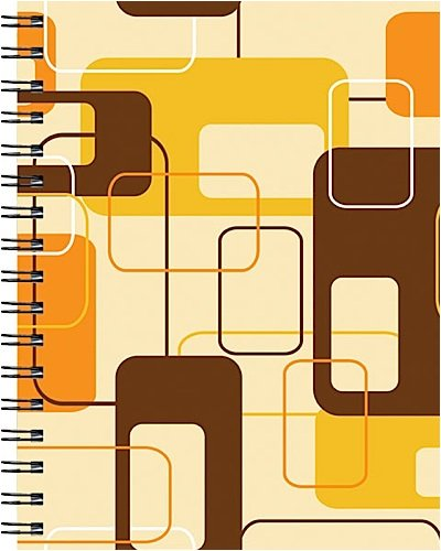 9781571336194: Wire-o Journal - Brown Retro - Medium..( Lined both sides - White wire-o )