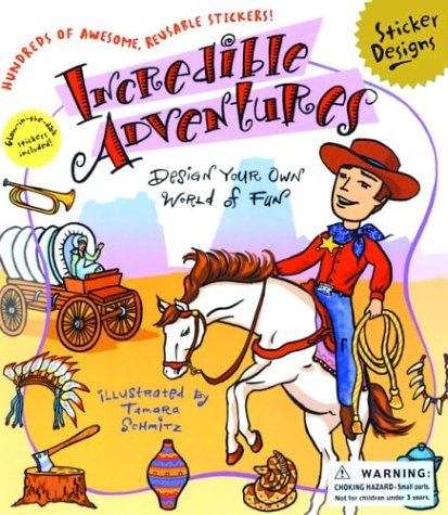 Incredible Adventures: A Sticker Designs Book: Hall, Kirsten, Hall,