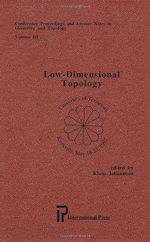 9781571460189: Low-Dimensional Topology (Conference proceedings and lecture notes in Geometry and Topology, Vol. 3)