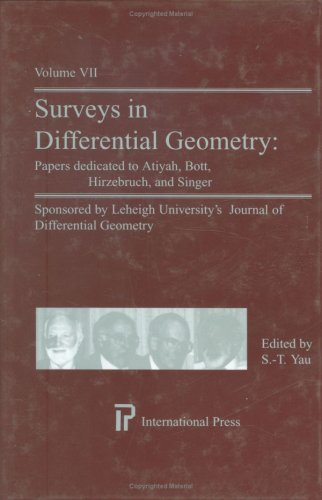 Surveys in Differential Geometry: Papers dedicated to: S.T. Yau