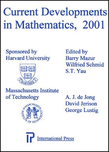 9781571461018: Current Developments in Mathematics, 2001