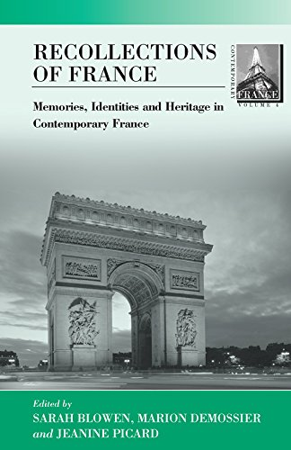 Recollections of France: Memories, Identities and Heritage: Demossier, Marion; Picard,