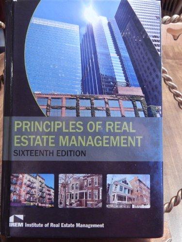 9781572031678: Principles of Real Estate Management