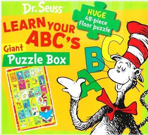 9781572158689: Learn Your ABC's With Cat in the Hat: 48 Pieces Floor