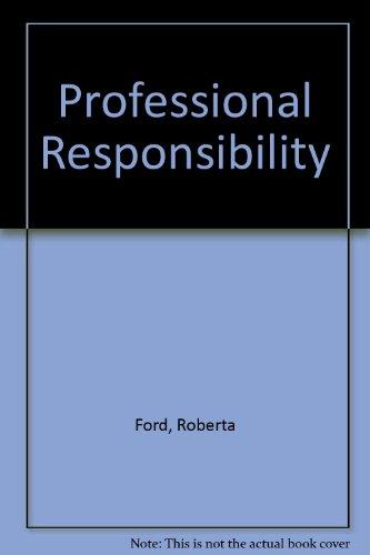 9781572221864: Professional Responsibility