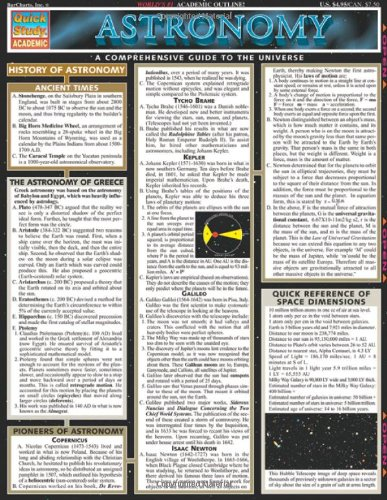 9781572224858: Astronomy (Quickstudy Reference Guides - Academic)