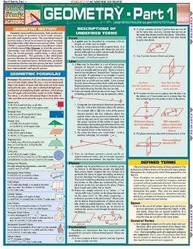 Geometry Part 1 (Quickstudy: Academic): BarCharts, Inc.