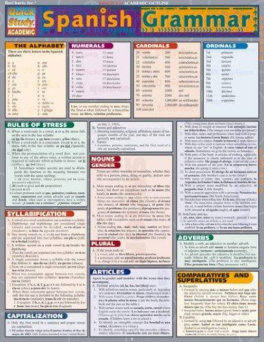 9781572225442: Spanish Grammar (Quickstudy: Academic)