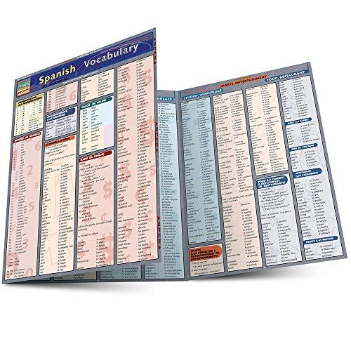 Spanish Vocabulary Laminate Reference Chart: Liliane Arnet
