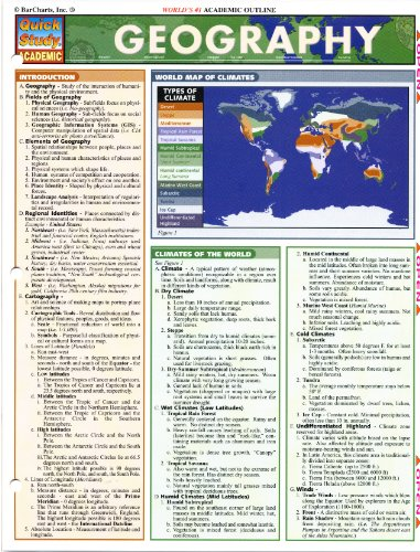 9781572226241: Geography (Quickstudy Reference Guides - Academic)