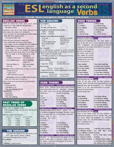 9781572226883: Esl Verbs (Quickstudy Reference Guides - Academic)