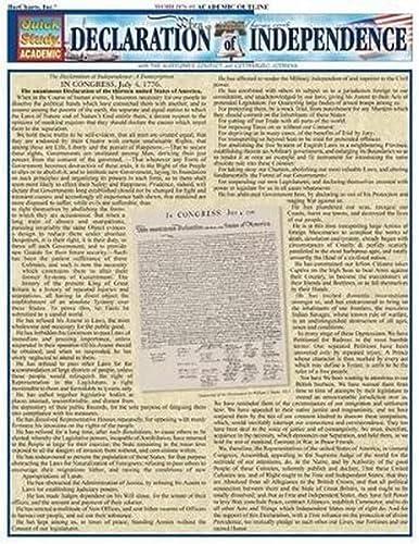 9781572227675: Declaration Of Independence (Quick Study Academic)