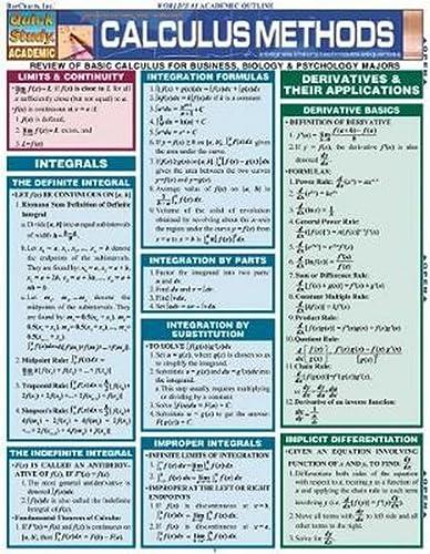 Calculus Methods (Quickstudy: Academic): BarCharts, Inc.
