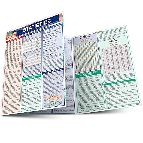 9781572229440: Statistics Laminate Reference Chart: Parameters, Variables, Intervals, Proportions (Quickstudy: Academic)