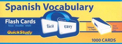 9781572229624: Spanish Vocabulary (Quickstudy)