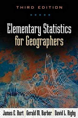 9781572304840: Elementary Statistics for Geographers, Third Edition