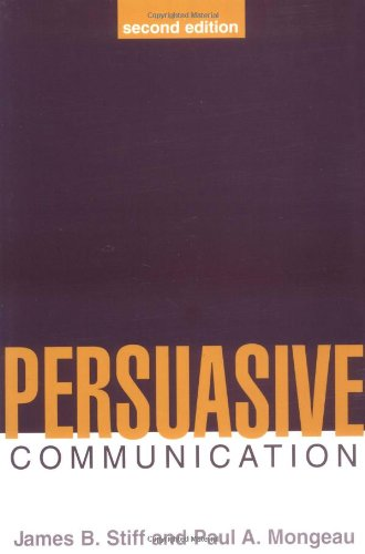 9781572307025: Persuasive Communication