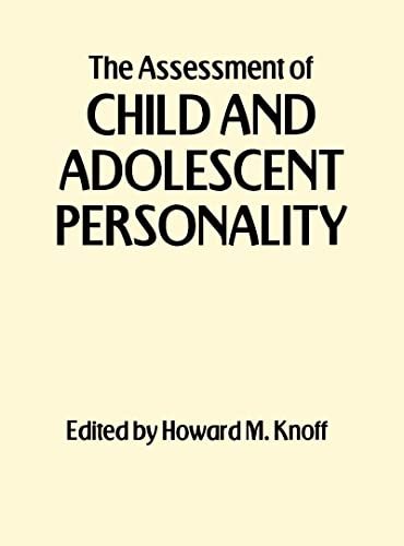 9781572308879: The Assessment of Child and Adolescent Personality