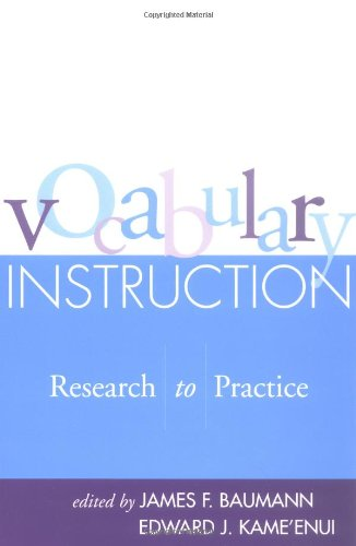 9781572309326: Vocabulary Instruction: Research to Practice (Solving Problems in the Teaching of Literacy)