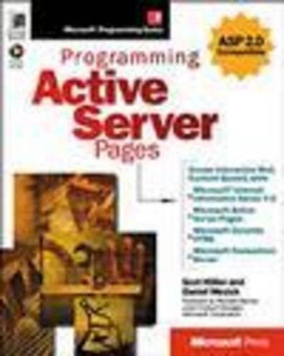 9781572317000: Programming Active Server Pages (Microsoft Programming Series)