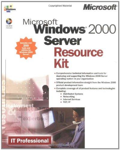 9781572318052: Microsoft(r) Windows(r) 2000 Server Resource Kit (It-Resource Kit)